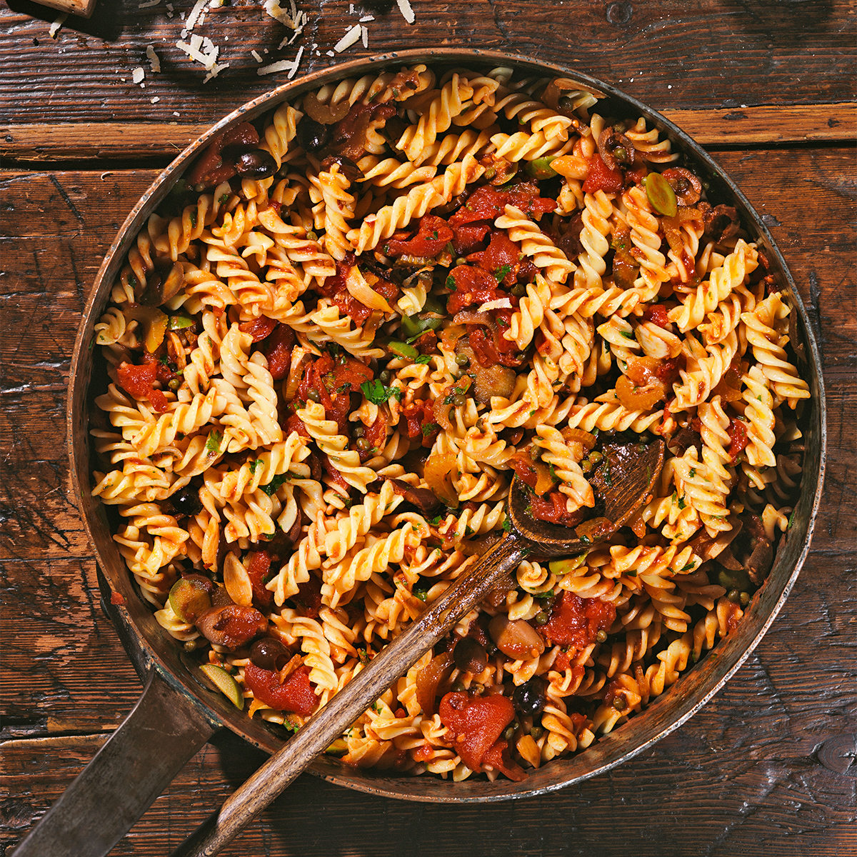 olive and caper sauce with fusilli