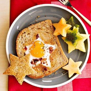 Star-Studded Egg-In-A-Hole
