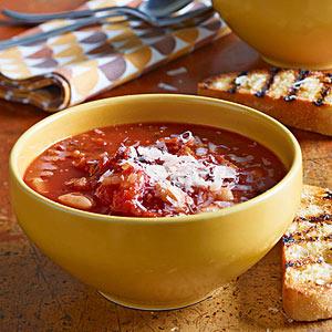 Bacon, Tomato & White Bean Soup