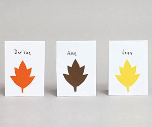 Leaf Placecards