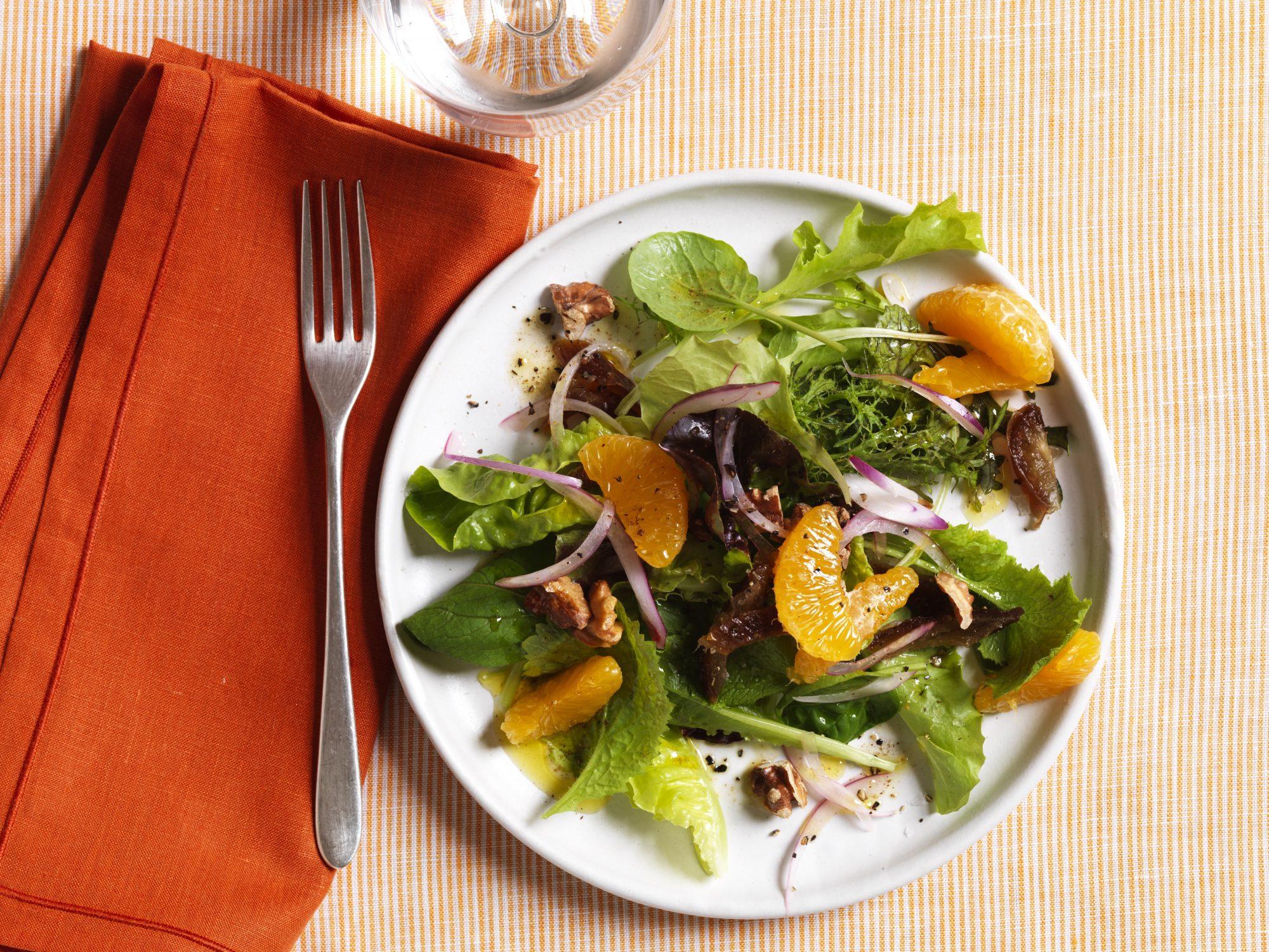 Clementine, Date & Walnut Salad