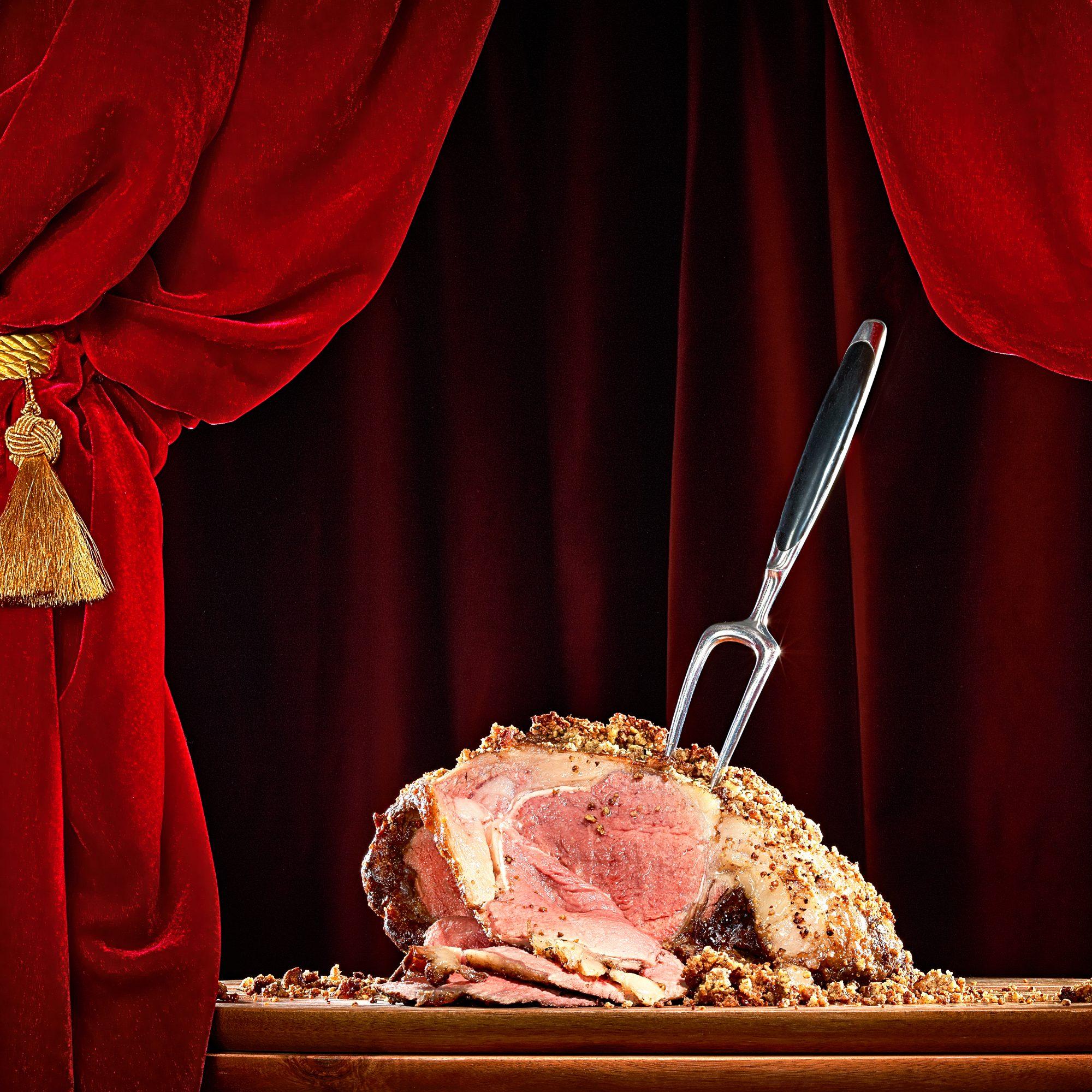 Pecan-Crusted Beef Rib Roast