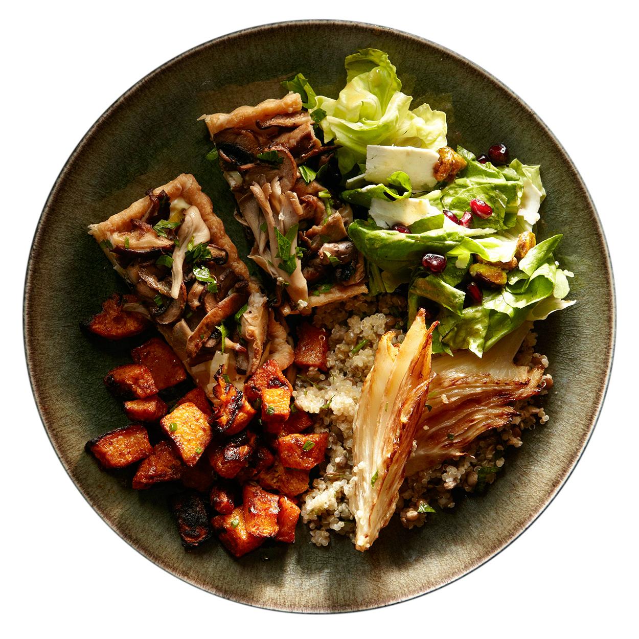 vegetarian thanksgiving meal