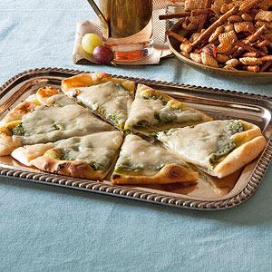 Cheesy Pesto Pizzas