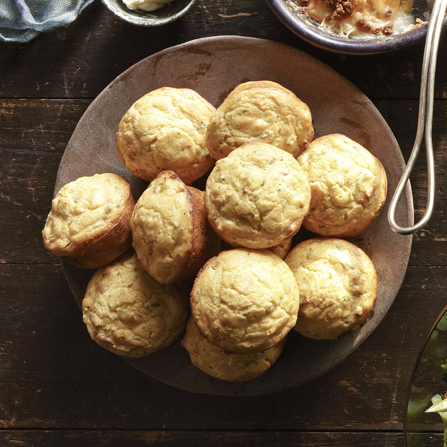 cornmeal stuffing muffins