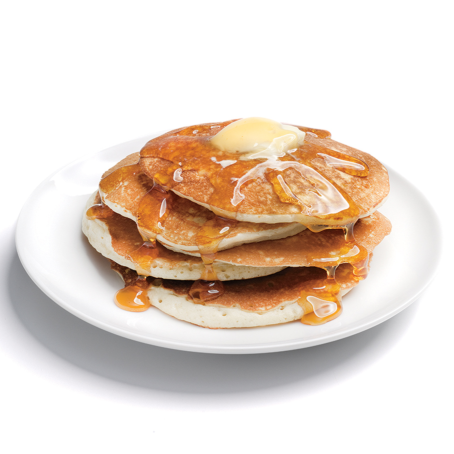 Fluffy Pancakes with Syrup