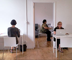 Pamela Mitchell, Kim Gougenheim and Jill Armus