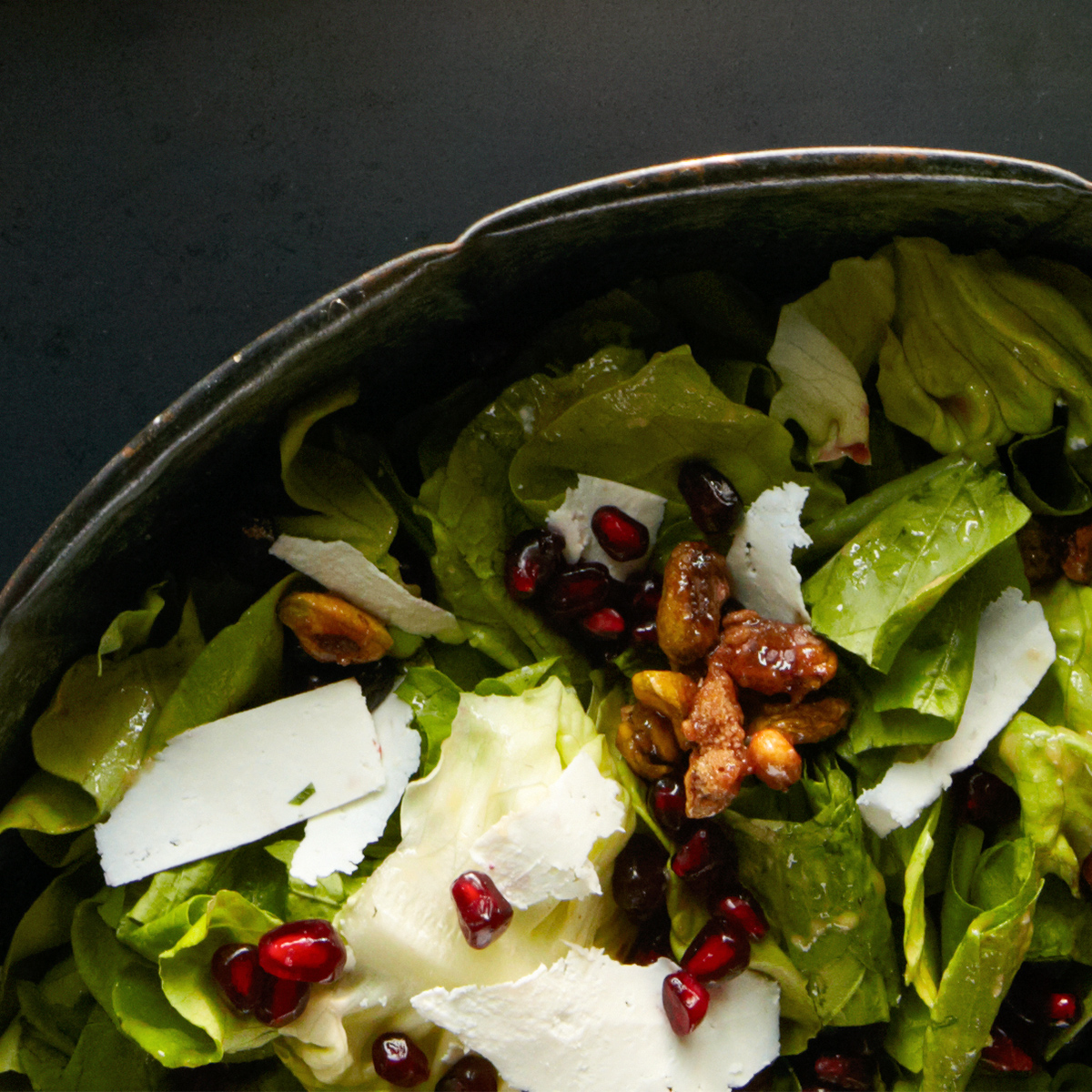 pistachio pomegranate chopped salad