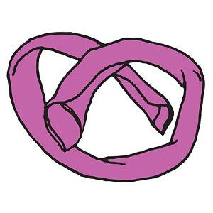 Pretzel napkin fold