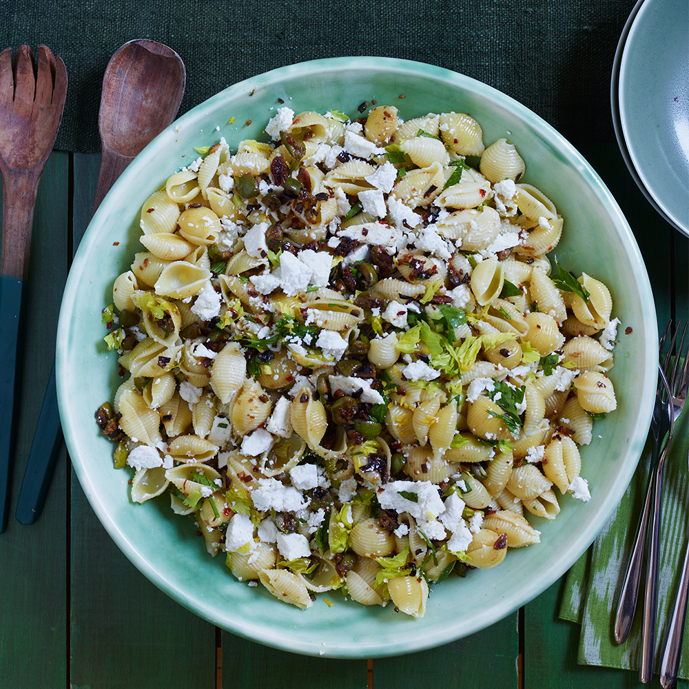 Shells with Olives & Ricotta Salata