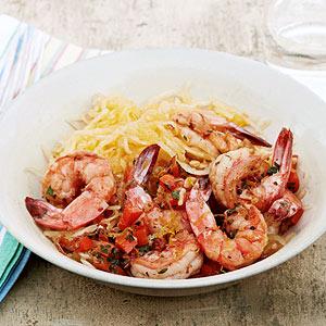 Skinny Shrimp Scampi with Spaghetti Squash