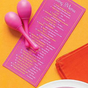 song menu