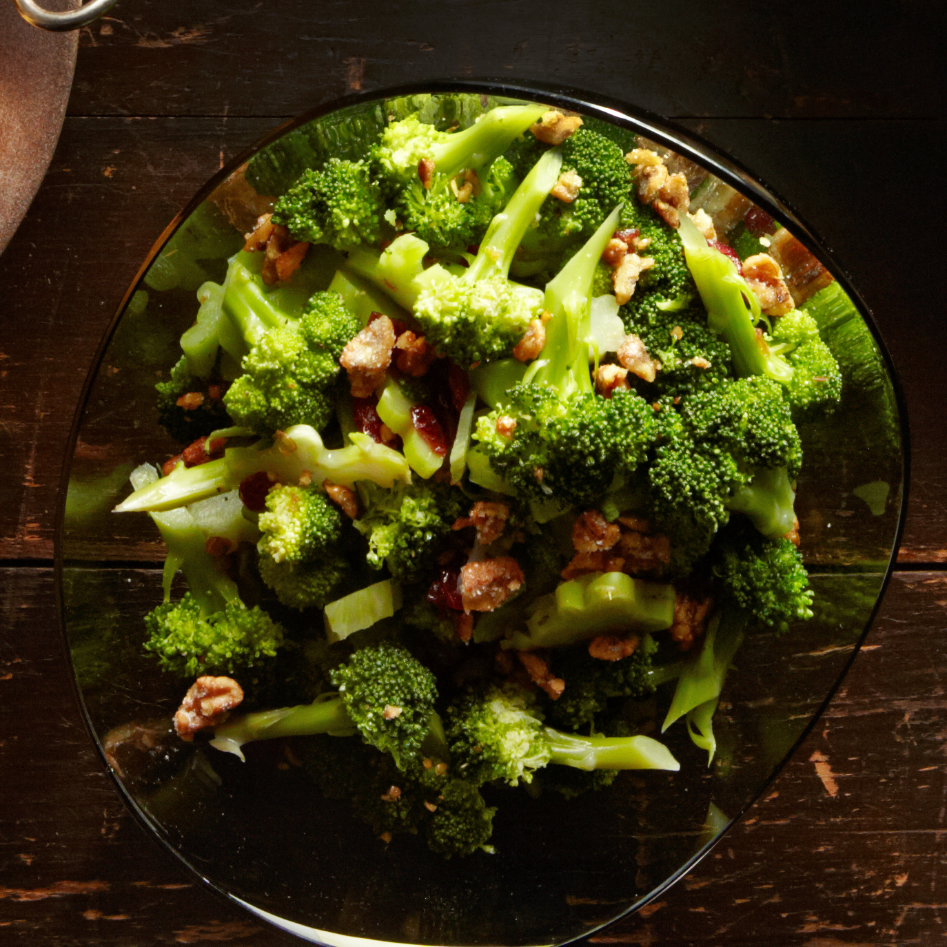 Walnut & Cranberry Broccoli Salad