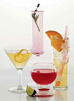 Flowery cocktail