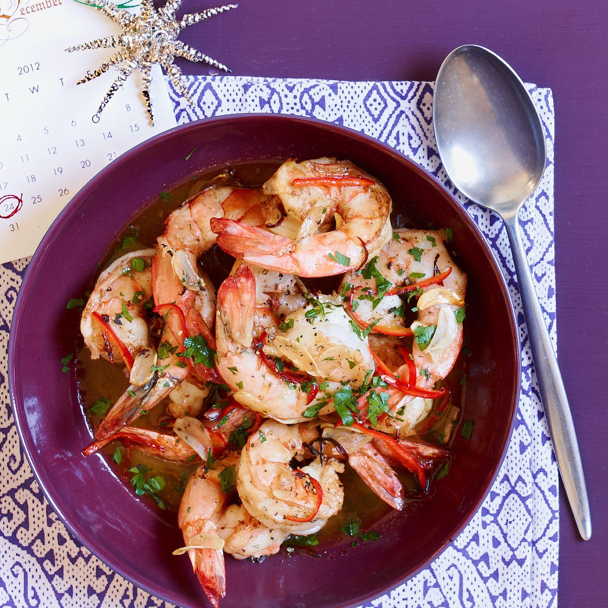 shrimp with chile-lemon butter