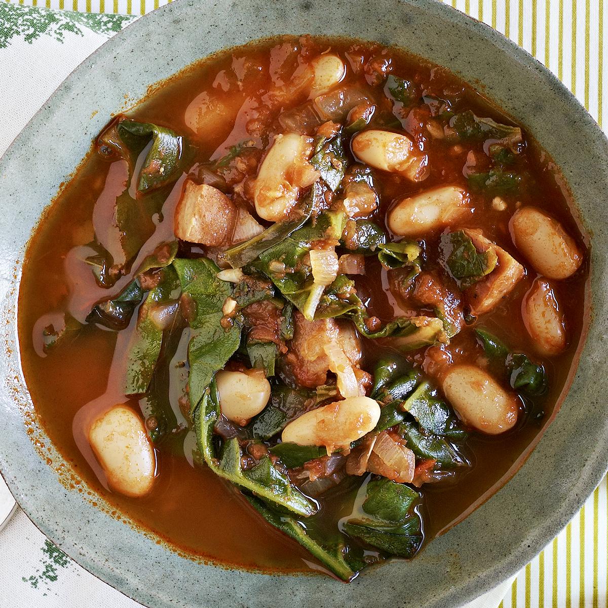 Chard, Bean & Sausage Stew