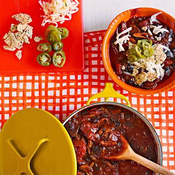 Mushroom, Ancho & Black Bean Chili