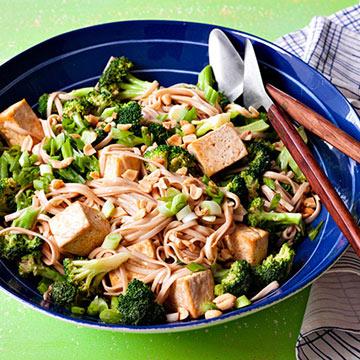 Nutty Tofu Noodles