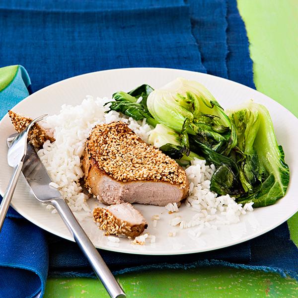 Sesame Pork Chops
