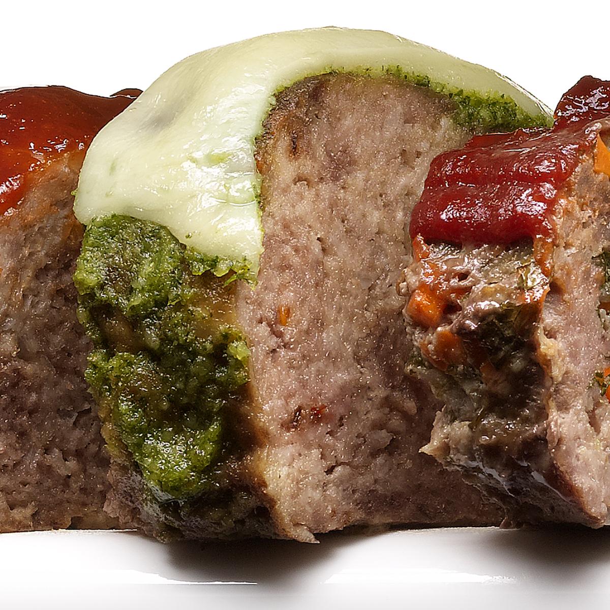 Arugula Pesto Meatloaf