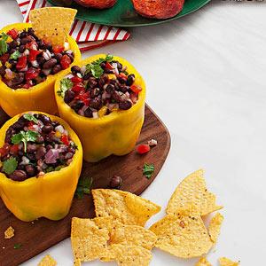 Black Bean Salsa-Stuffed Peppers