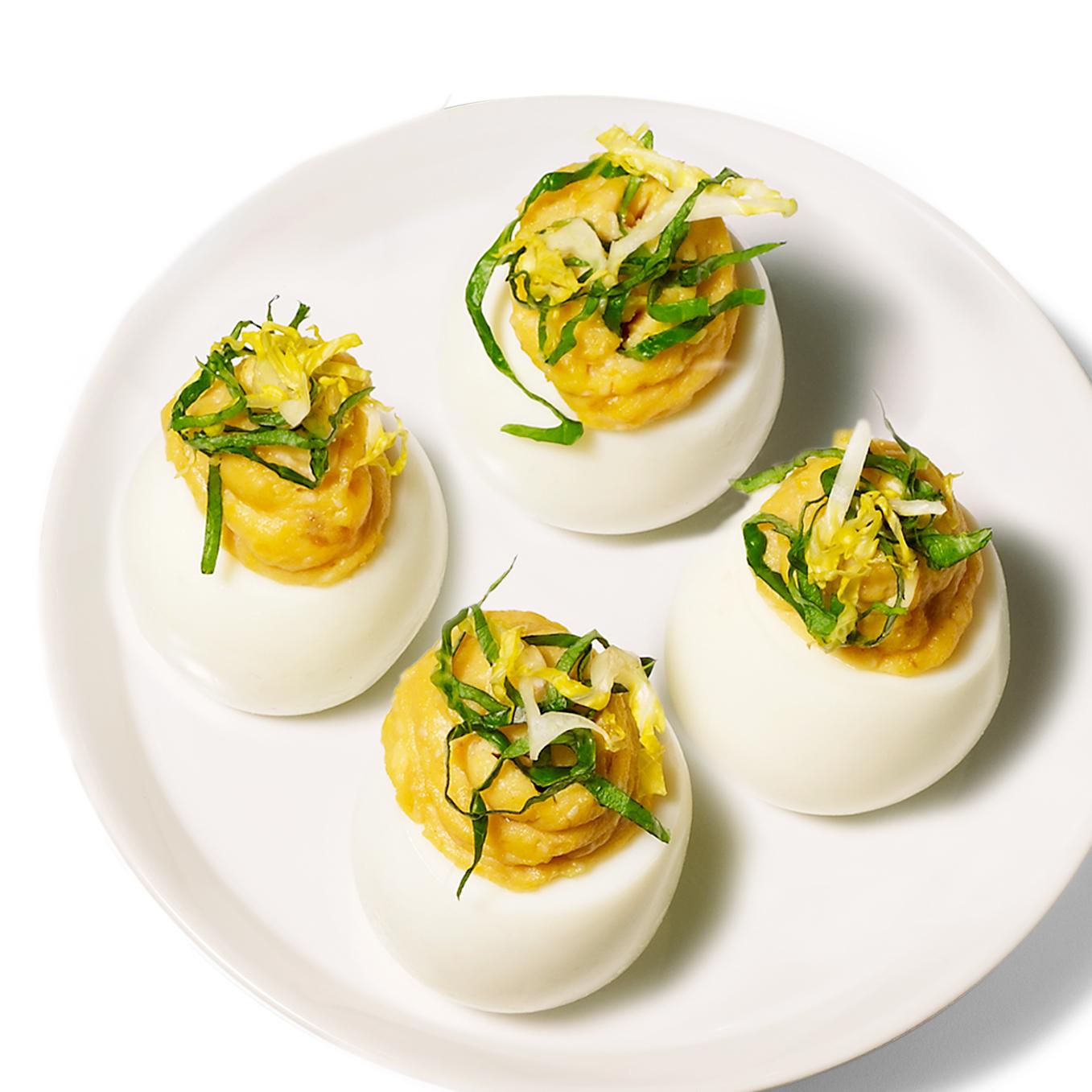 Caesar Deviled Eggs