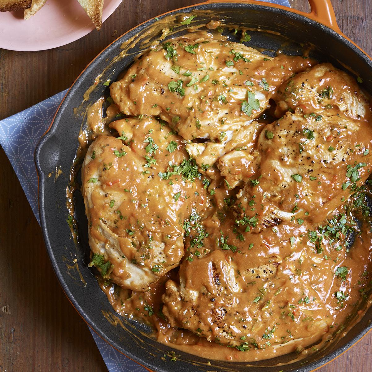 chicken in deviled gravy