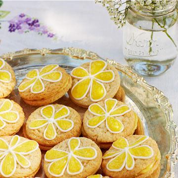 Lemon Daisy Cookies