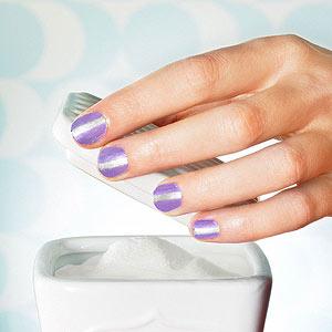 Show your stripes nail art