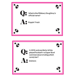 Trivia Cards, Page 1