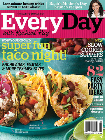 Every Day with Rachael Ray May 2013 Cover