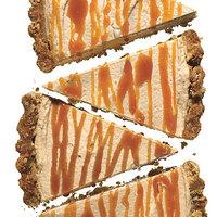 Peanut Butter Pretzel Tart with Caramel Drizzle recipe