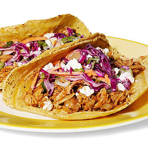 Red Chile-Chicken Tacos