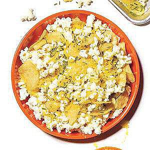 Loaded Baked Potato-and-Popcorn Mix