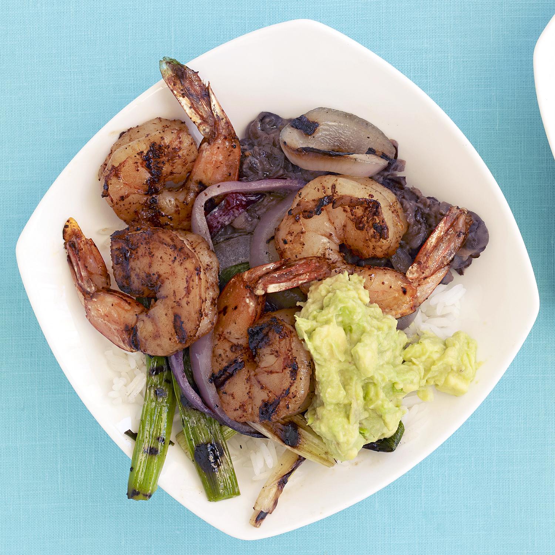 Grilled Shrimp Burrito Bowls