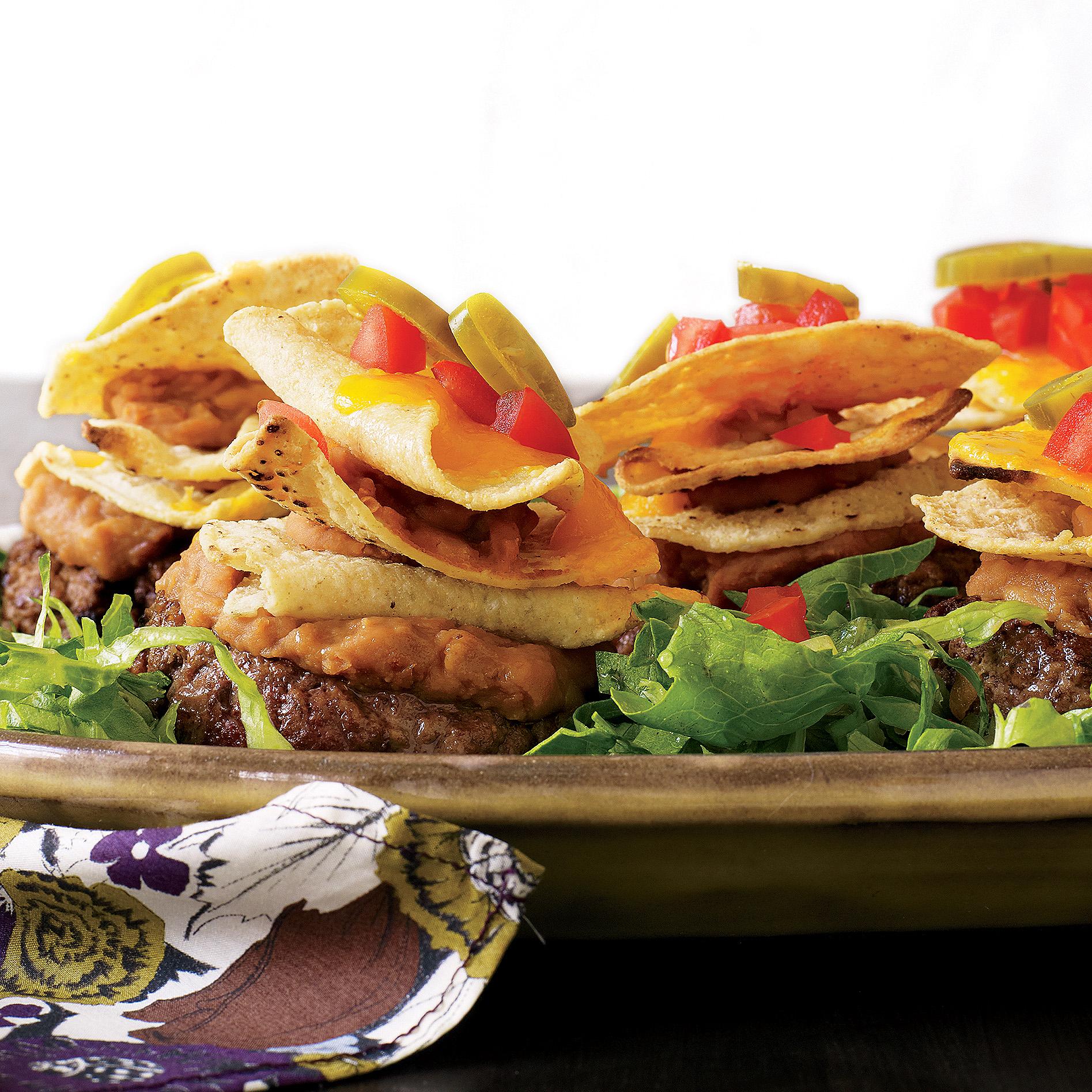 Nacho Slider-Size Burgers