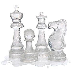 Chess ice cube