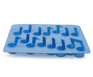 Music notes ice cubes