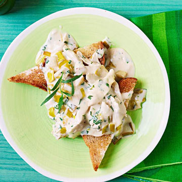 Cream of Chicken & Leeks on Buttered Toast