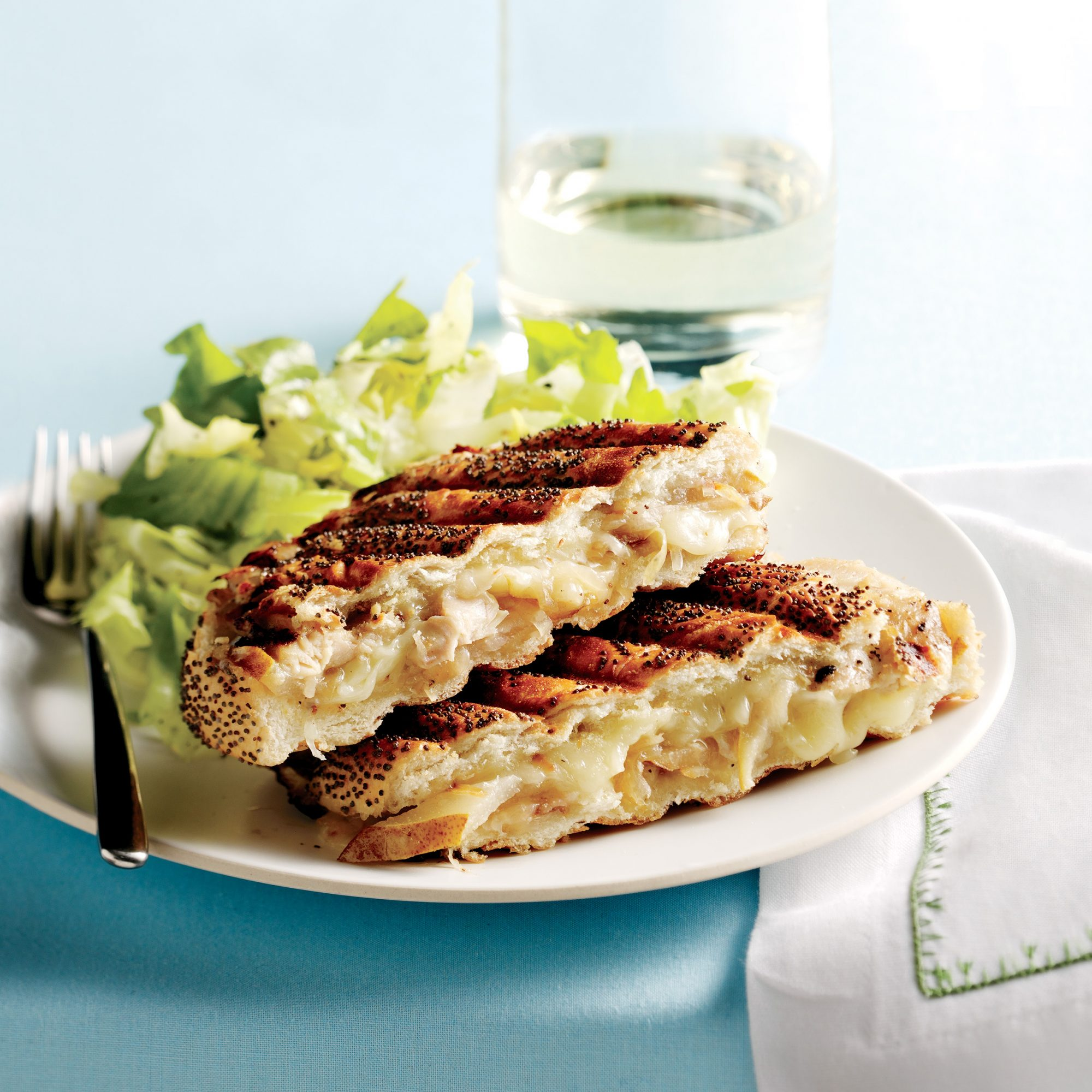 Chicken-and-Pear Panini with Shredded Escarole
