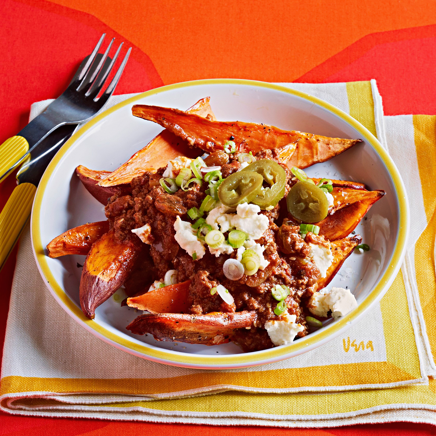 Mole-Topped Sweet Potatoes