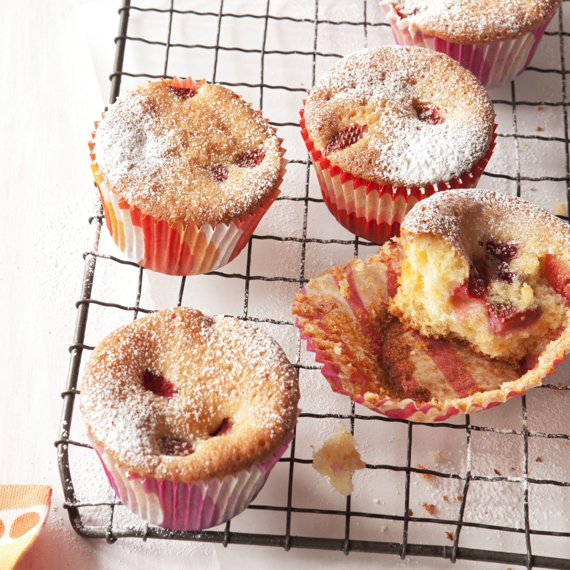 strawberry cornmeal cupcakes