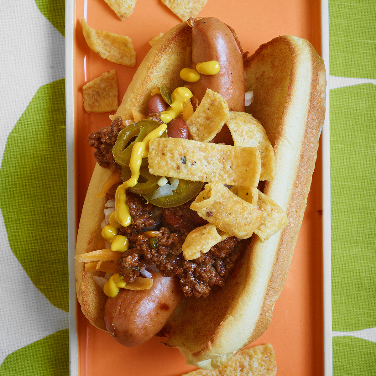 texas corn dogs chili topped frito dogs