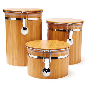 Le Chef Bamboo Canisters