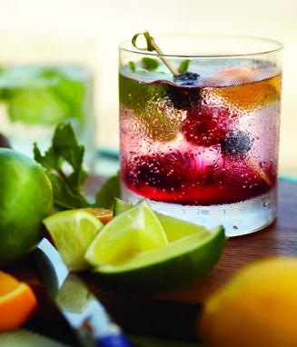 Blackberry Cooler Cocktail