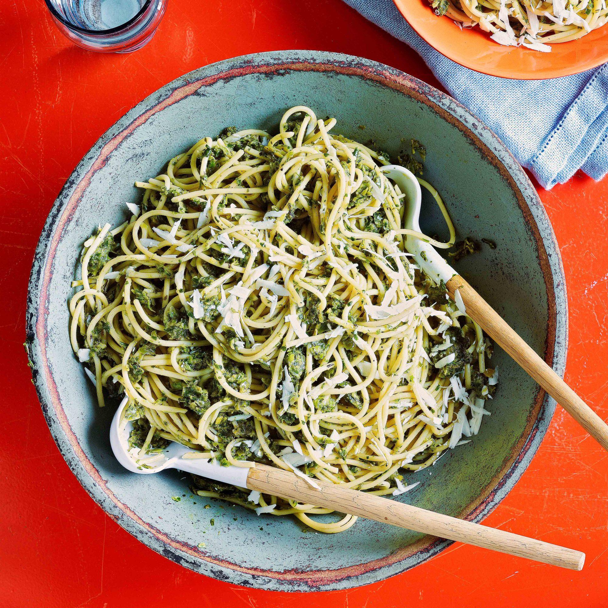 Charred Scallion Pesto Pasta