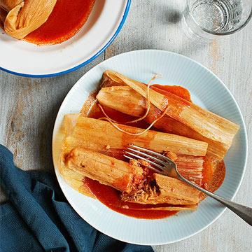 Spiced Pork Hot Tamales