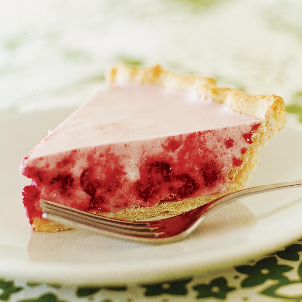 Chilled Raspberry Cream Pie