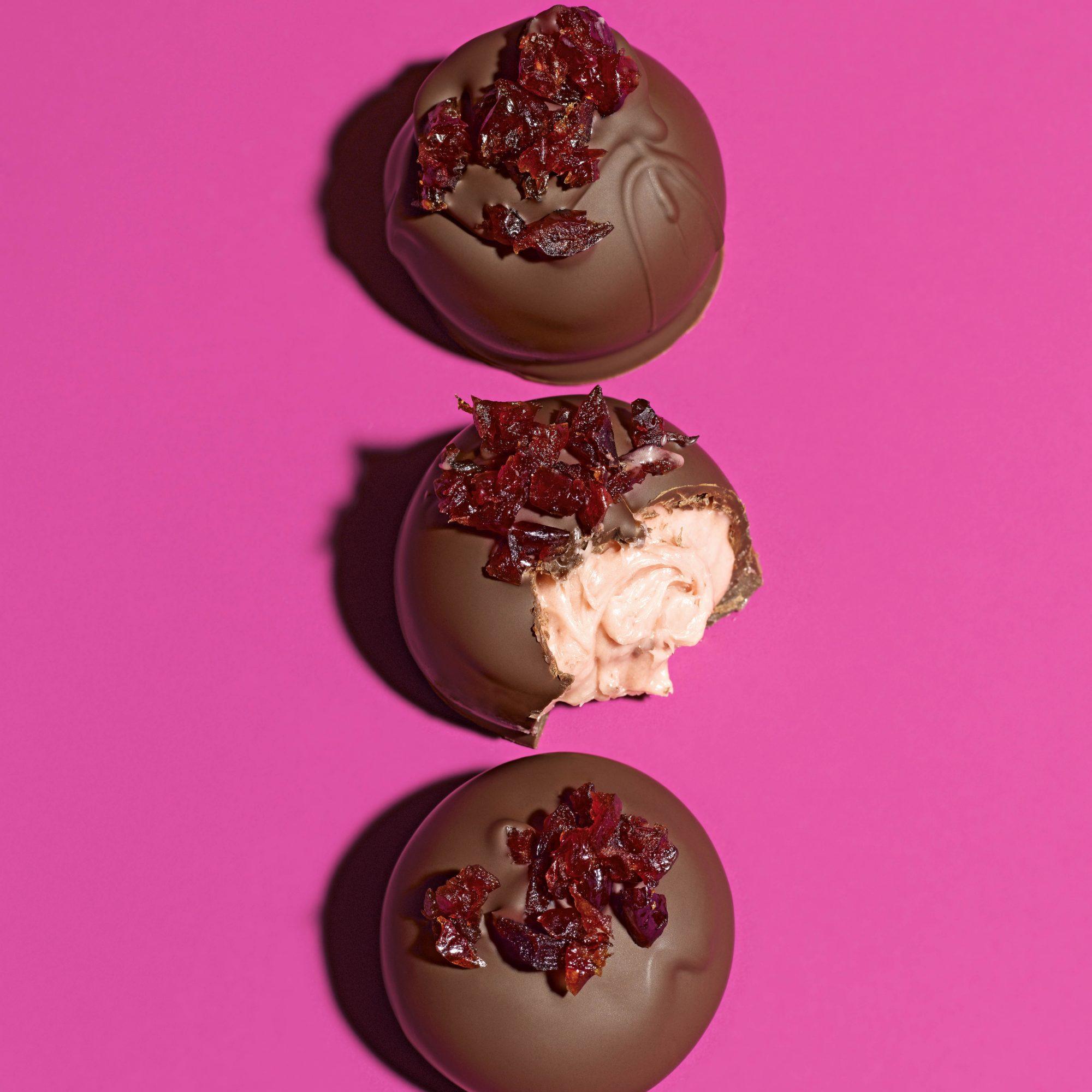 cran raspberry truffles