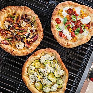 Grilled Pizza Three Ways